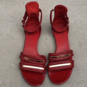 Balenciaga Red Patent Leather Sandals Size 37